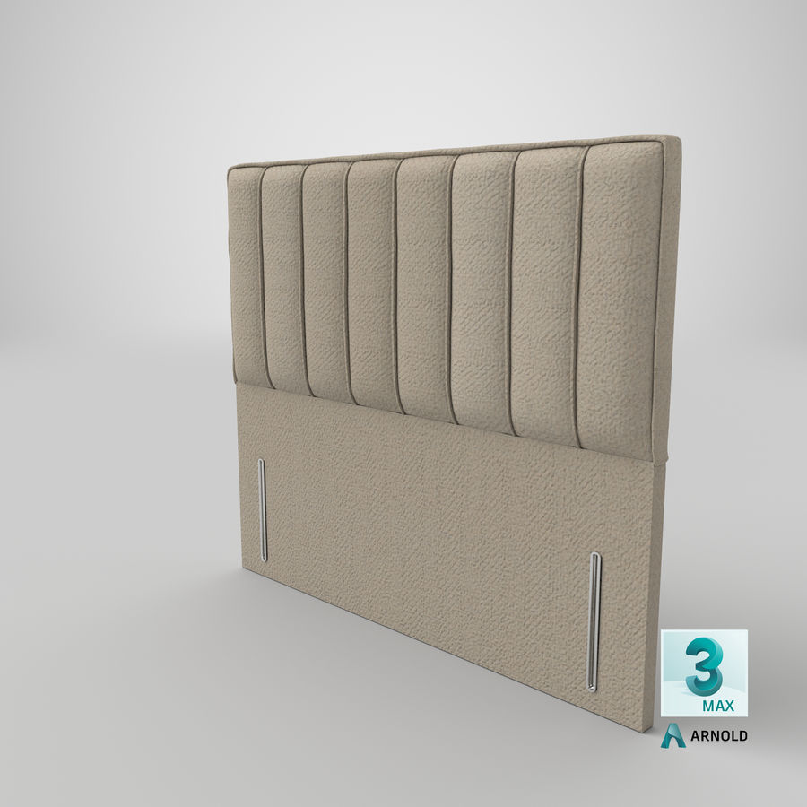 Headboard 04 Oatmeal royalty-free 3d model - Preview no. 23