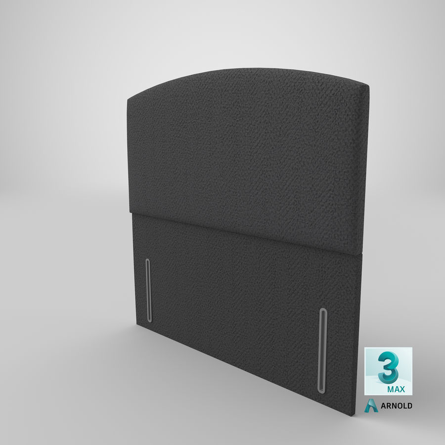 Headboard 05 Charcoal royalty-free 3d model - Preview no. 24