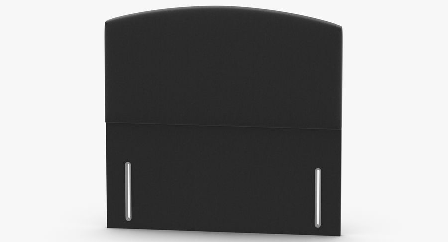 Headboard 05 Charcoal royalty-free 3d model - Preview no. 5