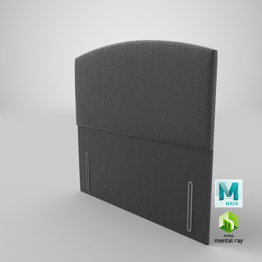 Headboard 05 Charcoal royalty-free 3d model - Preview no. 28