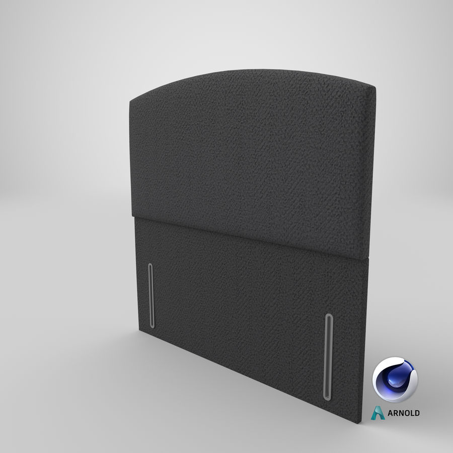 Headboard 05 Charcoal royalty-free 3d model - Preview no. 23
