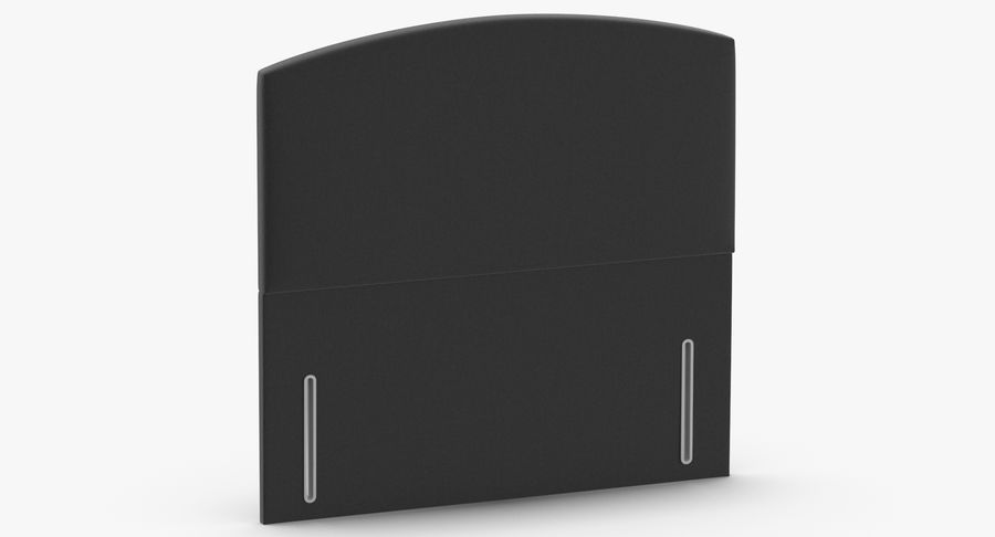 Headboard 05 Charcoal royalty-free 3d model - Preview no. 3