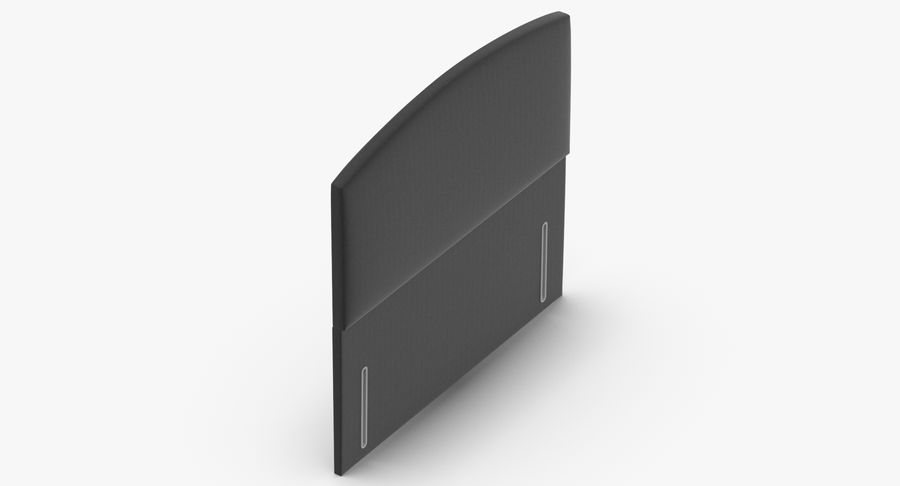 Headboard 05 Charcoal royalty-free 3d model - Preview no. 7