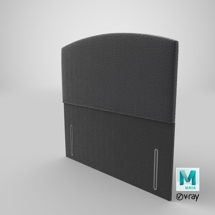 Headboard 05 Charcoal royalty-free 3d model - Preview no. 29