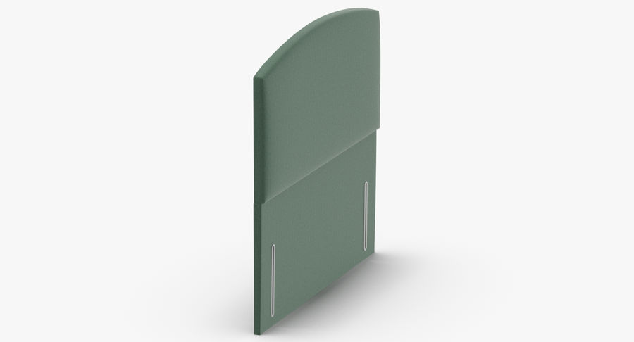 Headboard 05 Mint royalty-free 3d model - Preview no. 4
