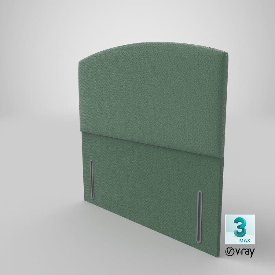 Headboard 05 Mint royalty-free 3d model - Preview no. 26