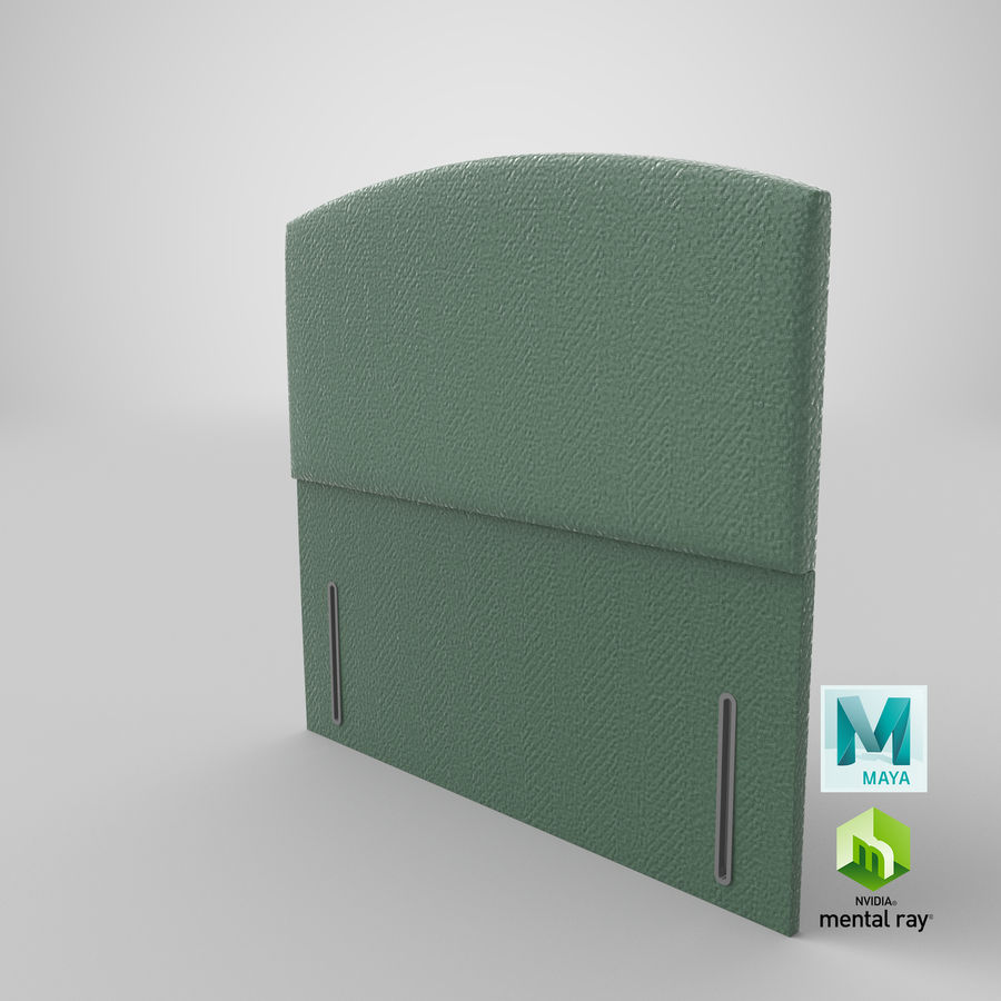 Headboard 05 Mint royalty-free 3d model - Preview no. 28