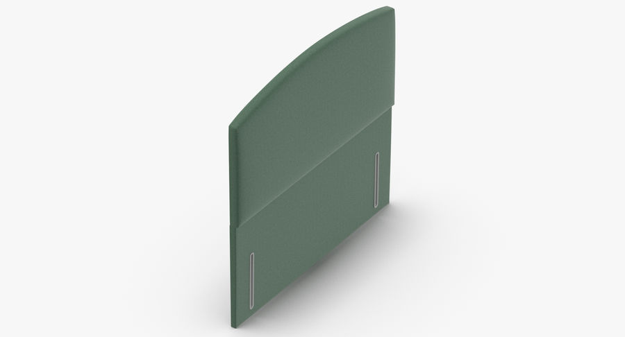 Headboard 05 Mint royalty-free 3d model - Preview no. 7