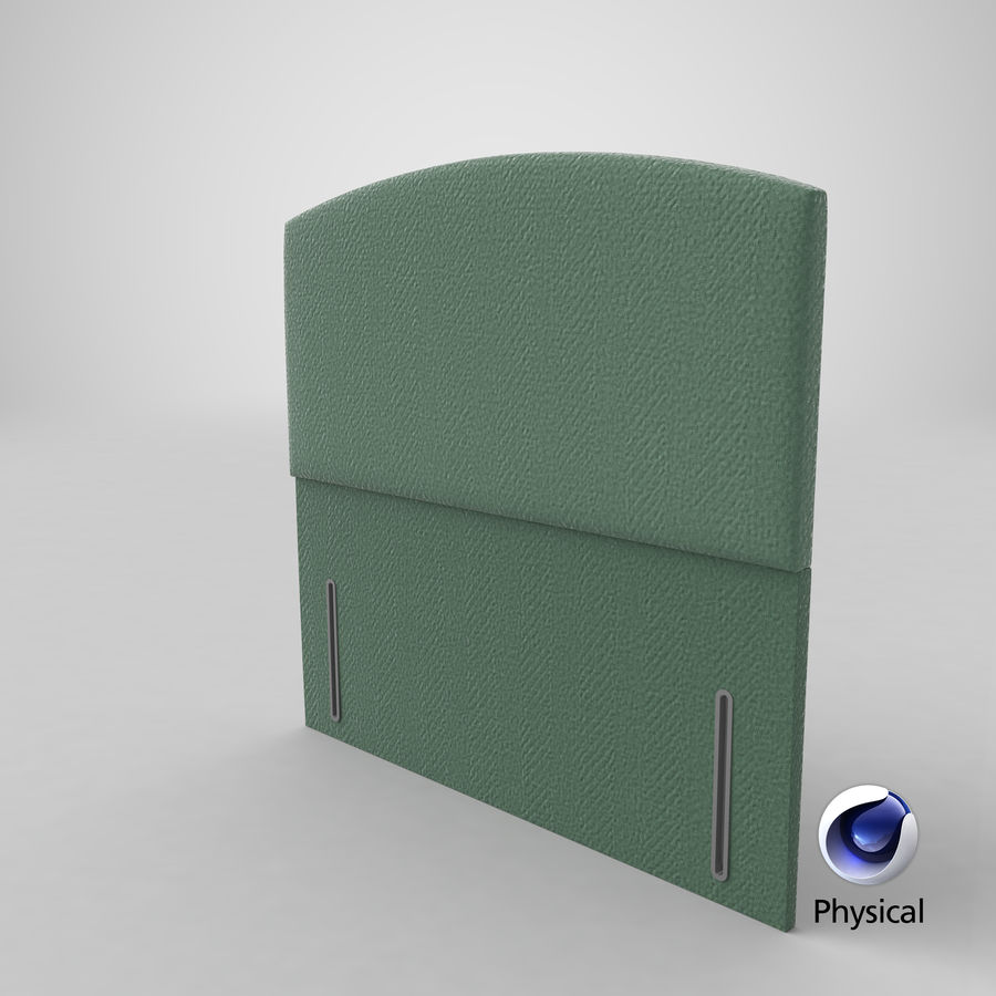 Headboard 05 Mint royalty-free 3d model - Preview no. 22