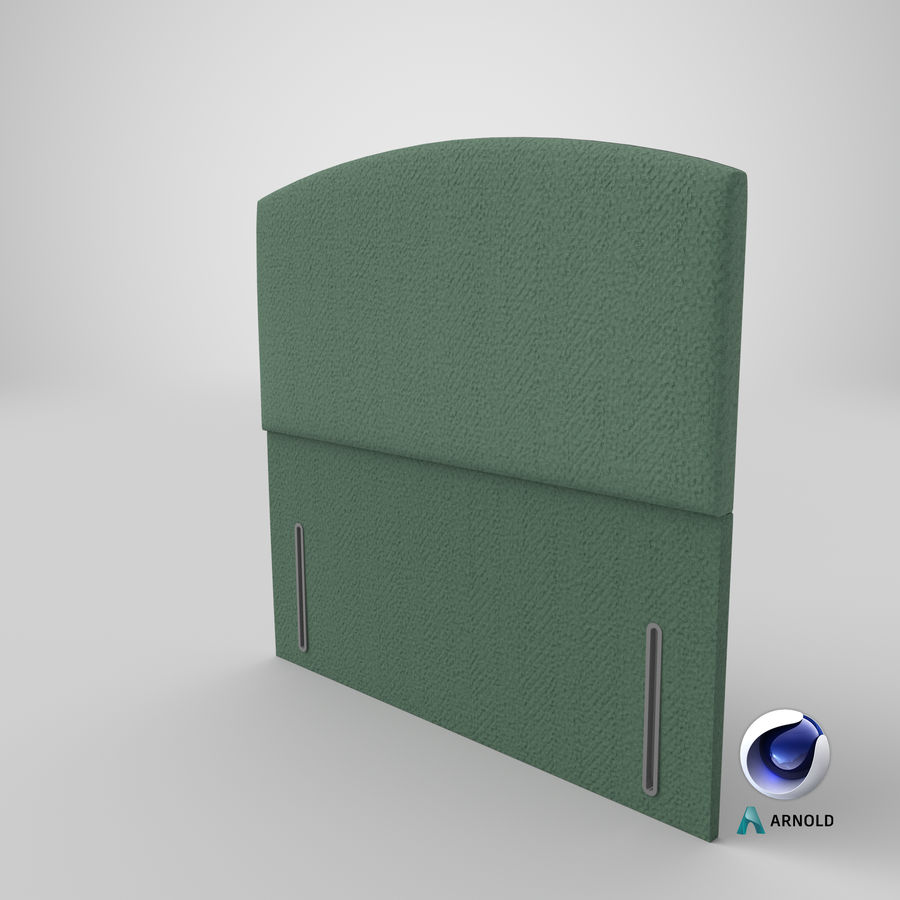 Headboard 05 Mint royalty-free 3d model - Preview no. 23