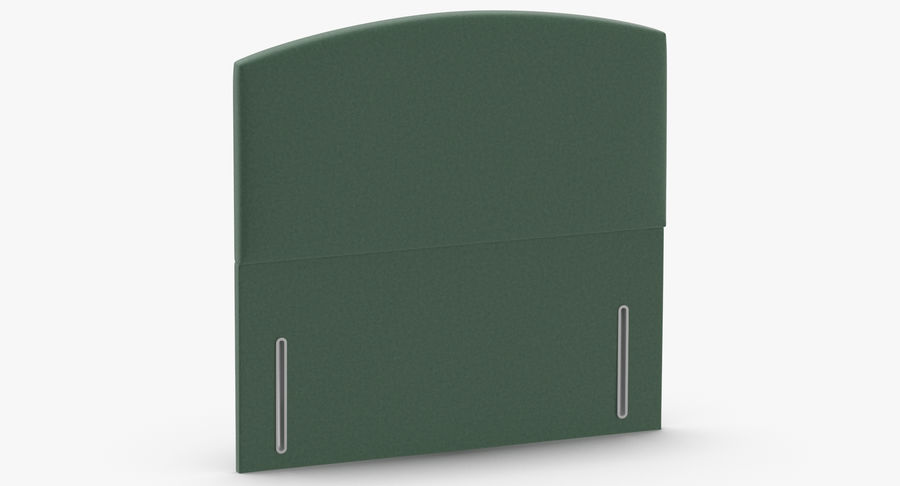 Headboard 05 Mint royalty-free 3d model - Preview no. 3