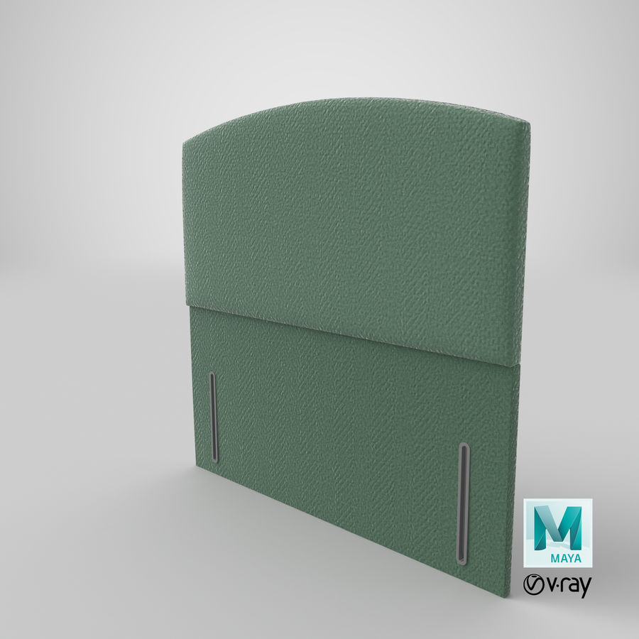 Headboard 05 Mint royalty-free 3d model - Preview no. 29