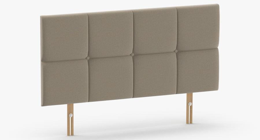 Headboard 09 Oatmeal royalty-free 3d model - Preview no. 3