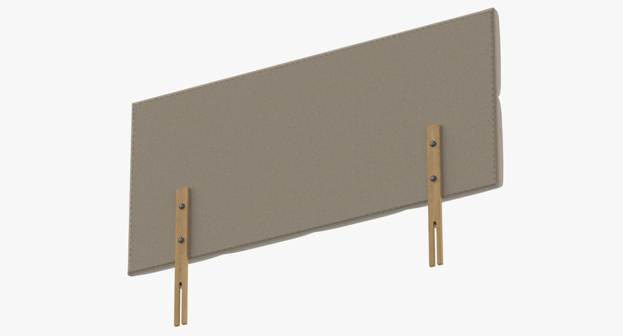 Headboard 09 Oatmeal royalty-free 3d model - Preview no. 8