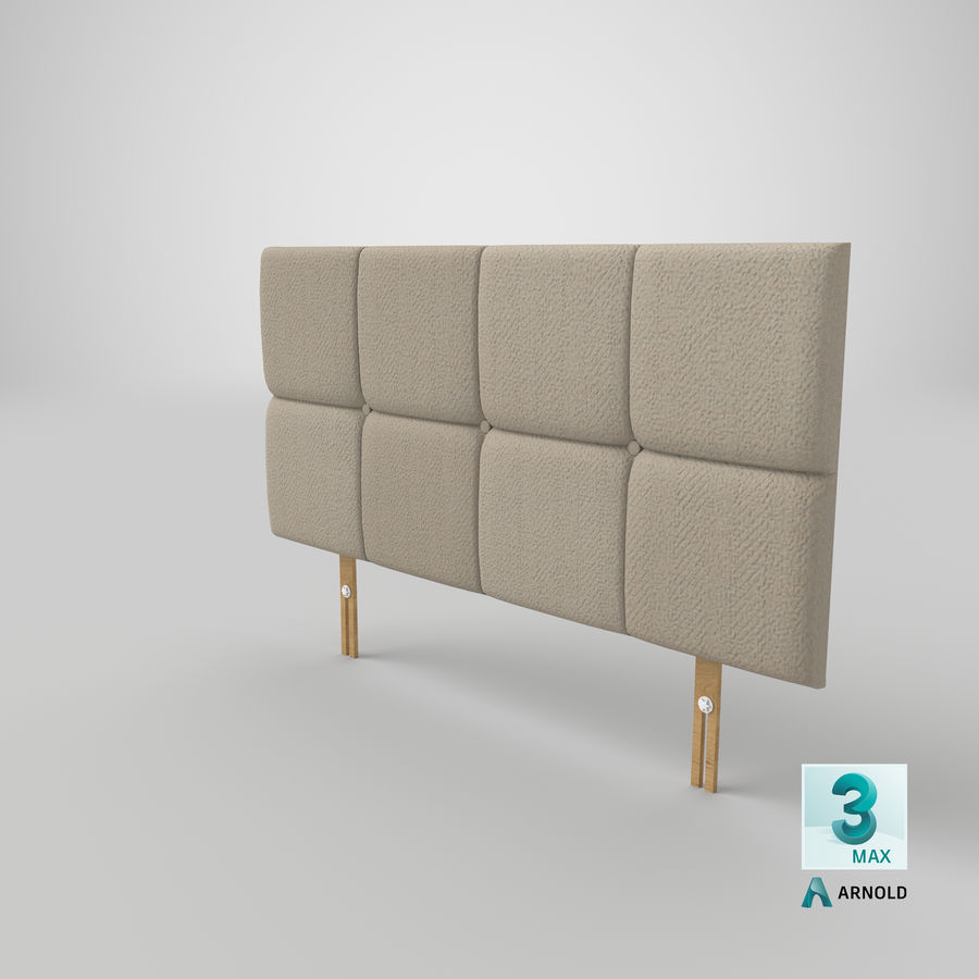Headboard 09 Oatmeal royalty-free 3d model - Preview no. 23