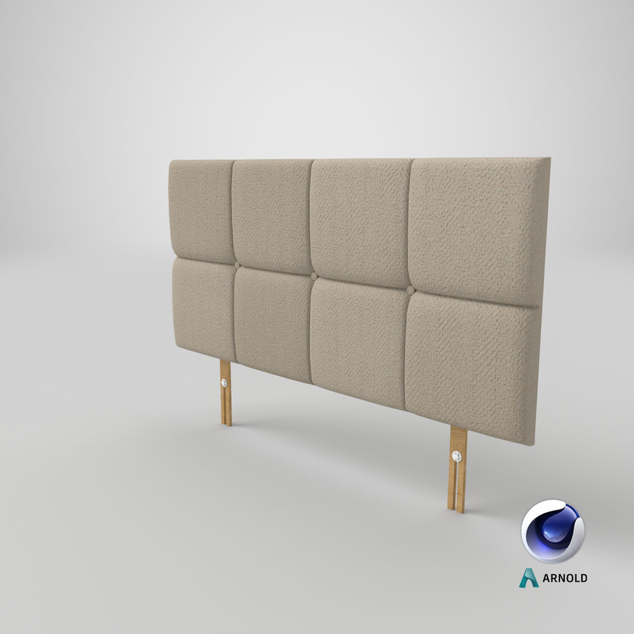 Headboard 09 Oatmeal royalty-free 3d model - Preview no. 22