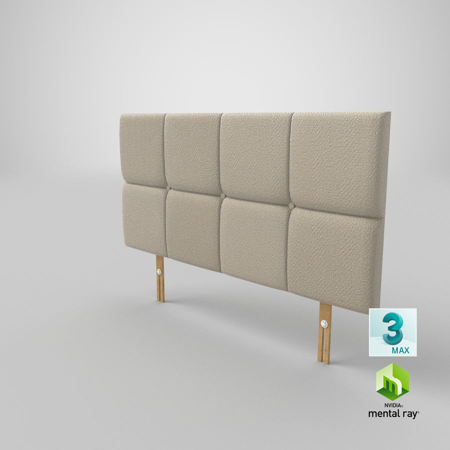 Headboard 09 Oatmeal royalty-free 3d model - Preview no. 24