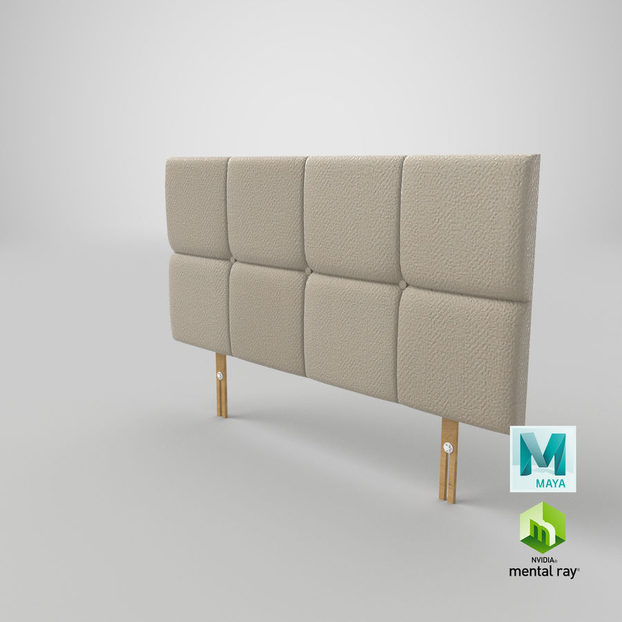 Headboard 09 Oatmeal royalty-free 3d model - Preview no. 27