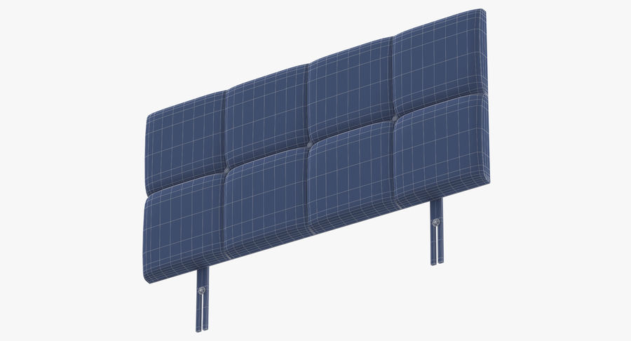 Headboard 09 Oatmeal royalty-free 3d model - Preview no. 17