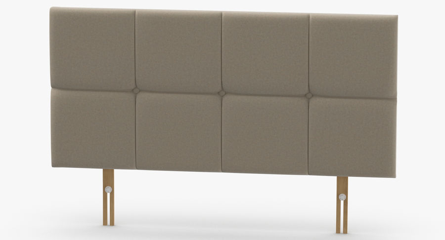 Headboard 09 Oatmeal royalty-free 3d model - Preview no. 5