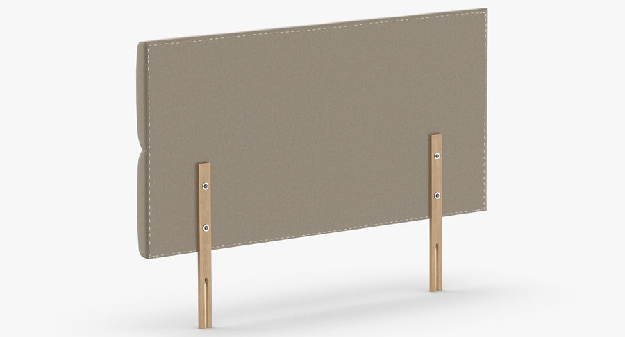Headboard 09 Oatmeal royalty-free 3d model - Preview no. 6