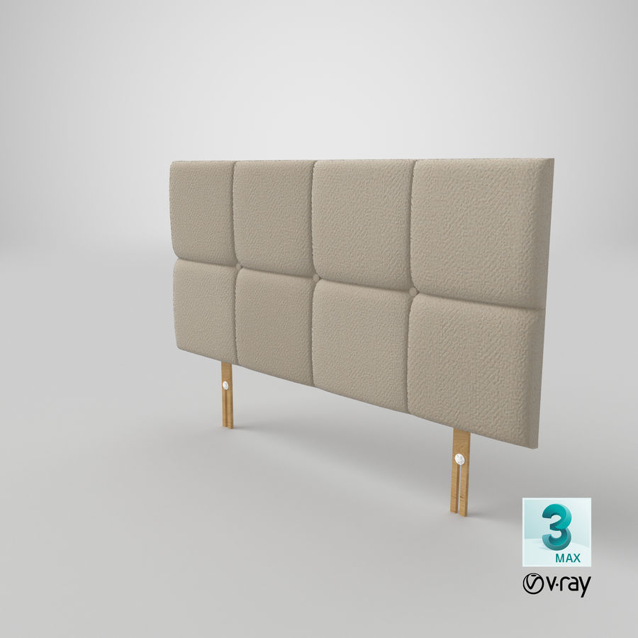 Headboard 09 Oatmeal royalty-free 3d model - Preview no. 25