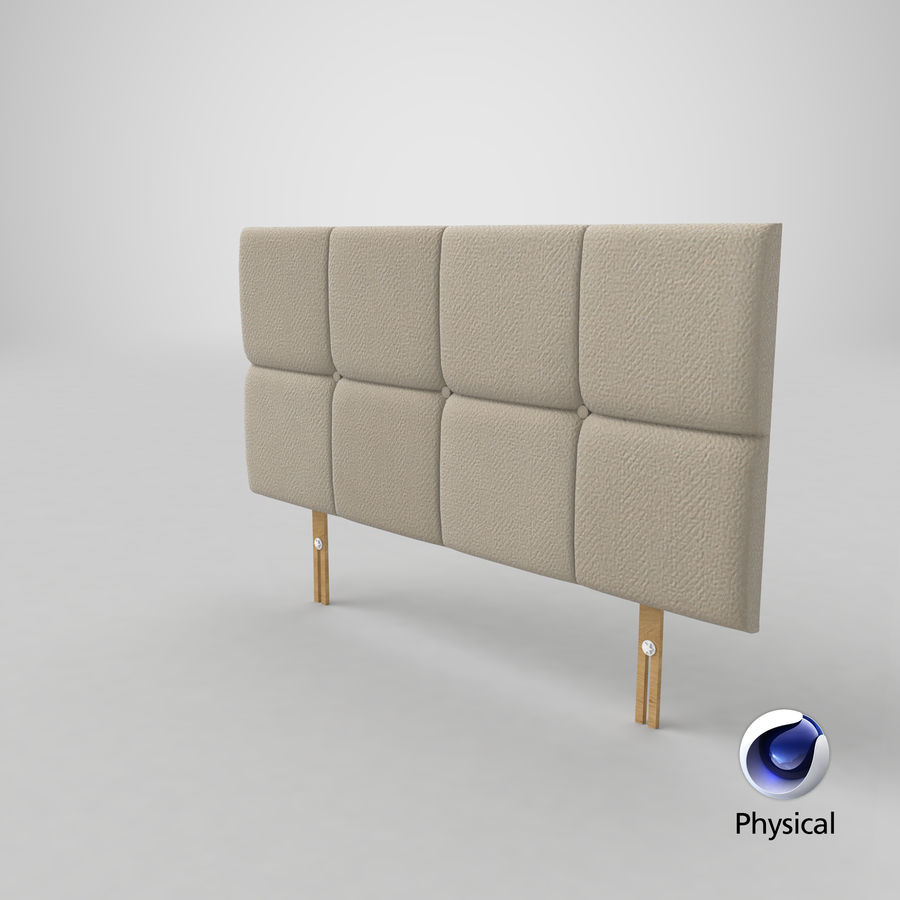 Headboard 09 Oatmeal royalty-free 3d model - Preview no. 21