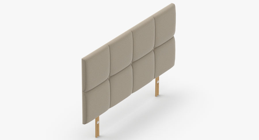 Headboard 09 Oatmeal royalty-free 3d model - Preview no. 7