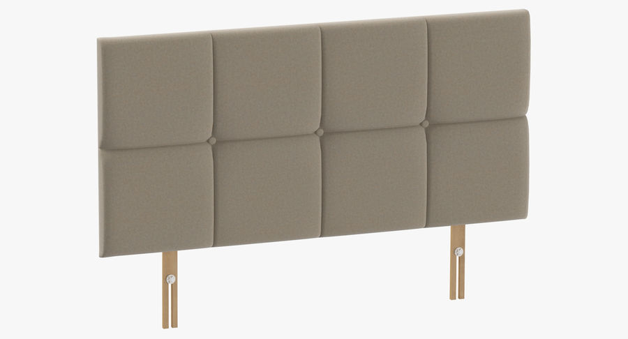Headboard 09 Oatmeal royalty-free 3d model - Preview no. 2