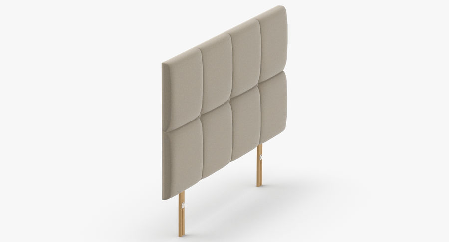 Headboard 09 Oatmeal royalty-free 3d model - Preview no. 4