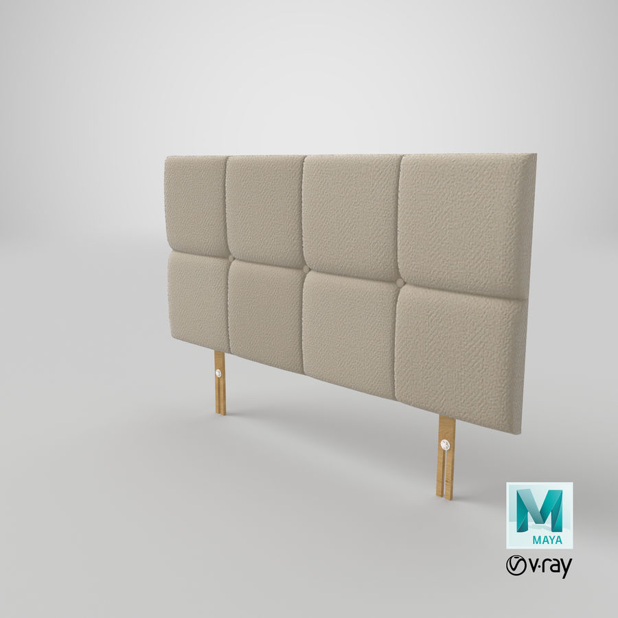 Headboard 09 Oatmeal royalty-free 3d model - Preview no. 28
