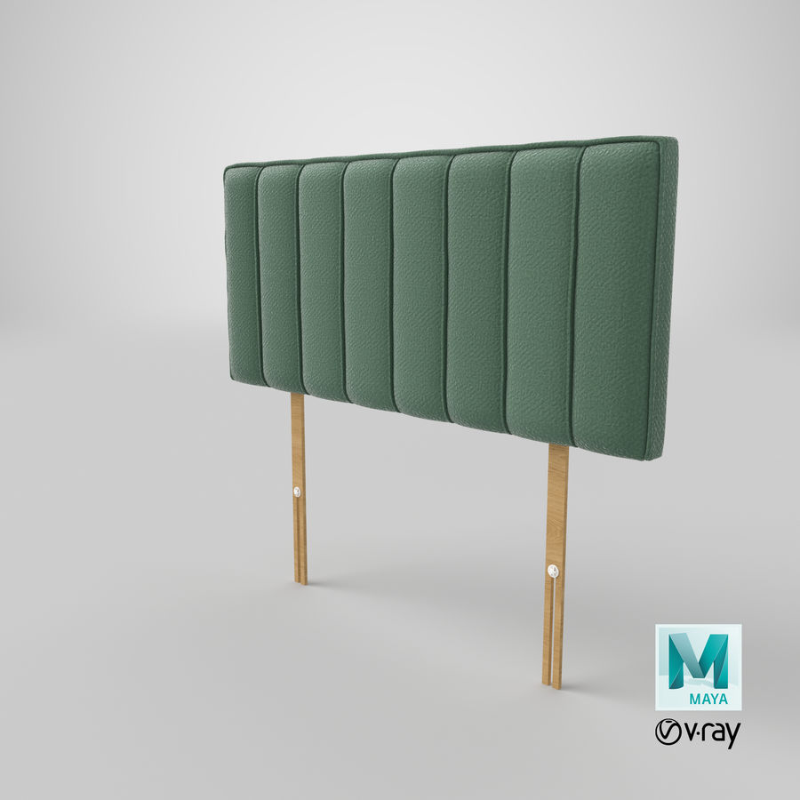 Headboard 10 Mint royalty-free 3d model - Preview no. 28