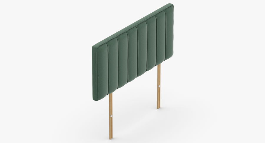 Headboard 10 Mint royalty-free 3d model - Preview no. 7