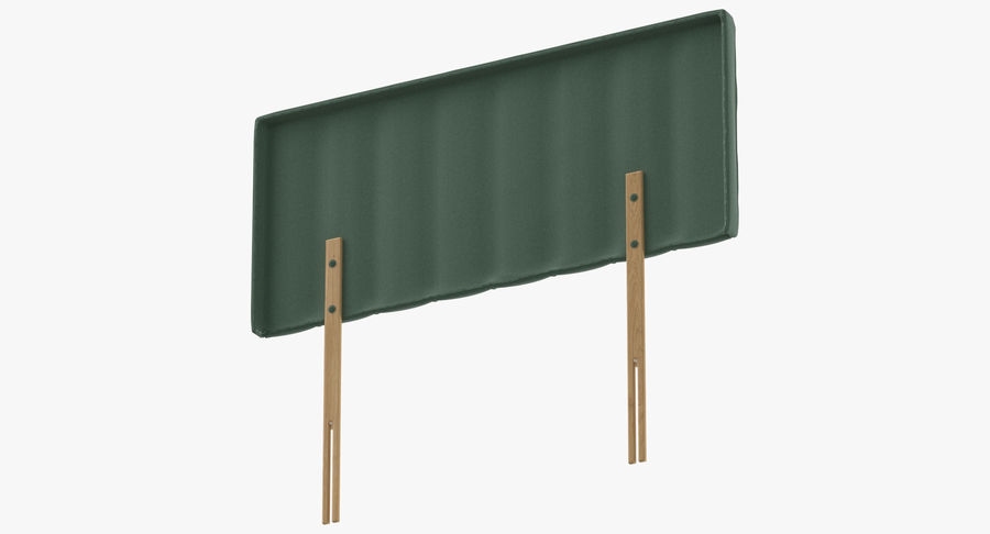 Headboard 10 Mint royalty-free 3d model - Preview no. 8