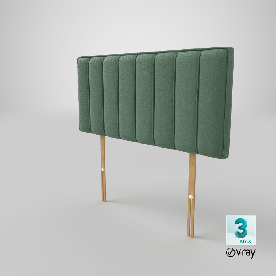 Headboard 10 Mint royalty-free 3d model - Preview no. 25