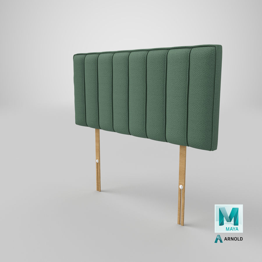 Headboard 10 Mint royalty-free 3d model - Preview no. 26