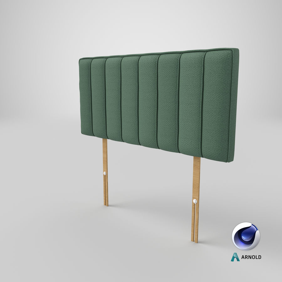 Headboard 10 Mint royalty-free 3d model - Preview no. 22