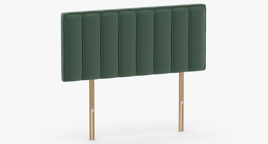 Headboard 10 Mint royalty-free 3d model - Preview no. 3