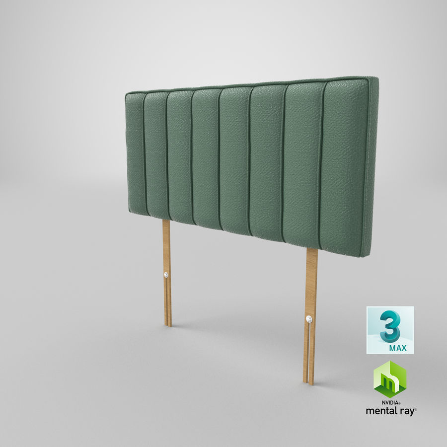 Headboard 10 Mint royalty-free 3d model - Preview no. 24