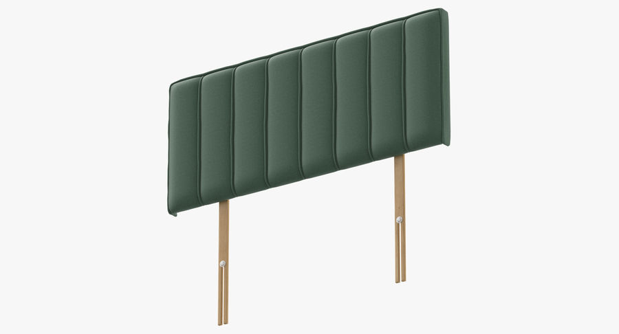 Headboard 10 Mint royalty-free 3d model - Preview no. 9
