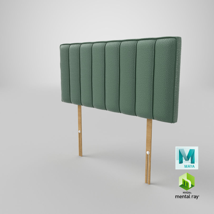 Headboard 10 Mint royalty-free 3d model - Preview no. 27