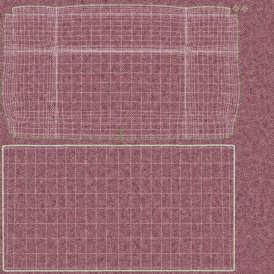 Hoofdbord 13 Blush royalty-free 3d model - Preview no. 20