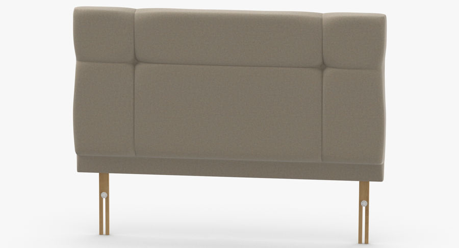 Headboard 13 Oatmeal royalty-free 3d model - Preview no. 5