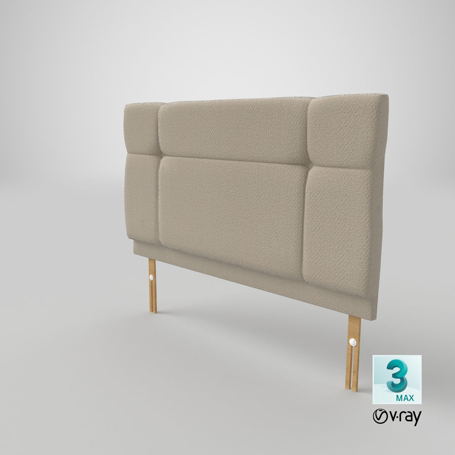 Headboard 13 Oatmeal royalty-free 3d model - Preview no. 26