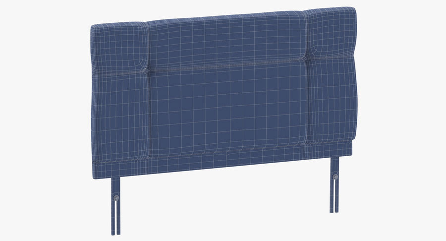 Headboard 13 Oatmeal royalty-free 3d model - Preview no. 10