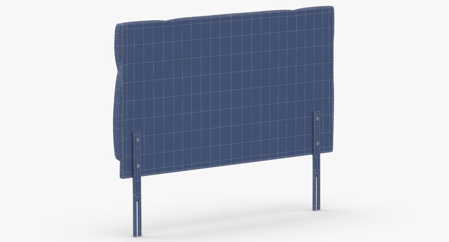 Headboard 13 Oatmeal royalty-free 3d model - Preview no. 14