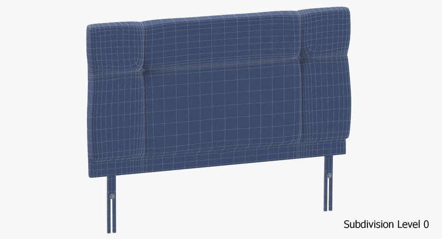 Headboard 13 Oatmeal royalty-free 3d model - Preview no. 18