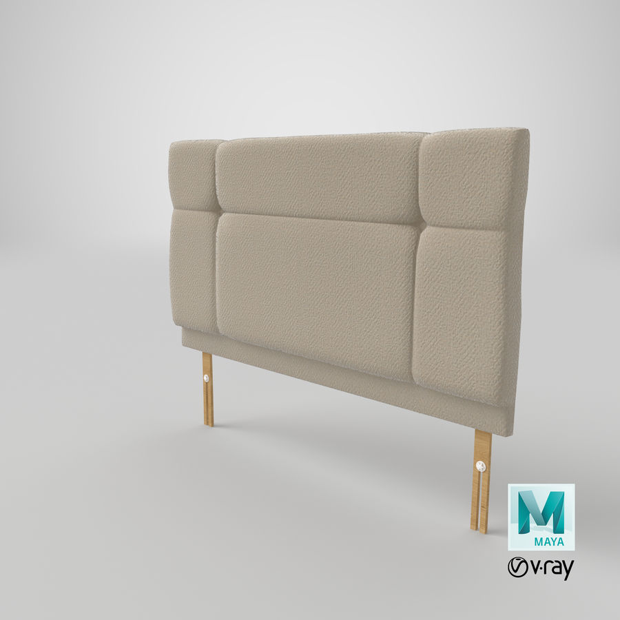 Headboard 13 Oatmeal royalty-free 3d model - Preview no. 29