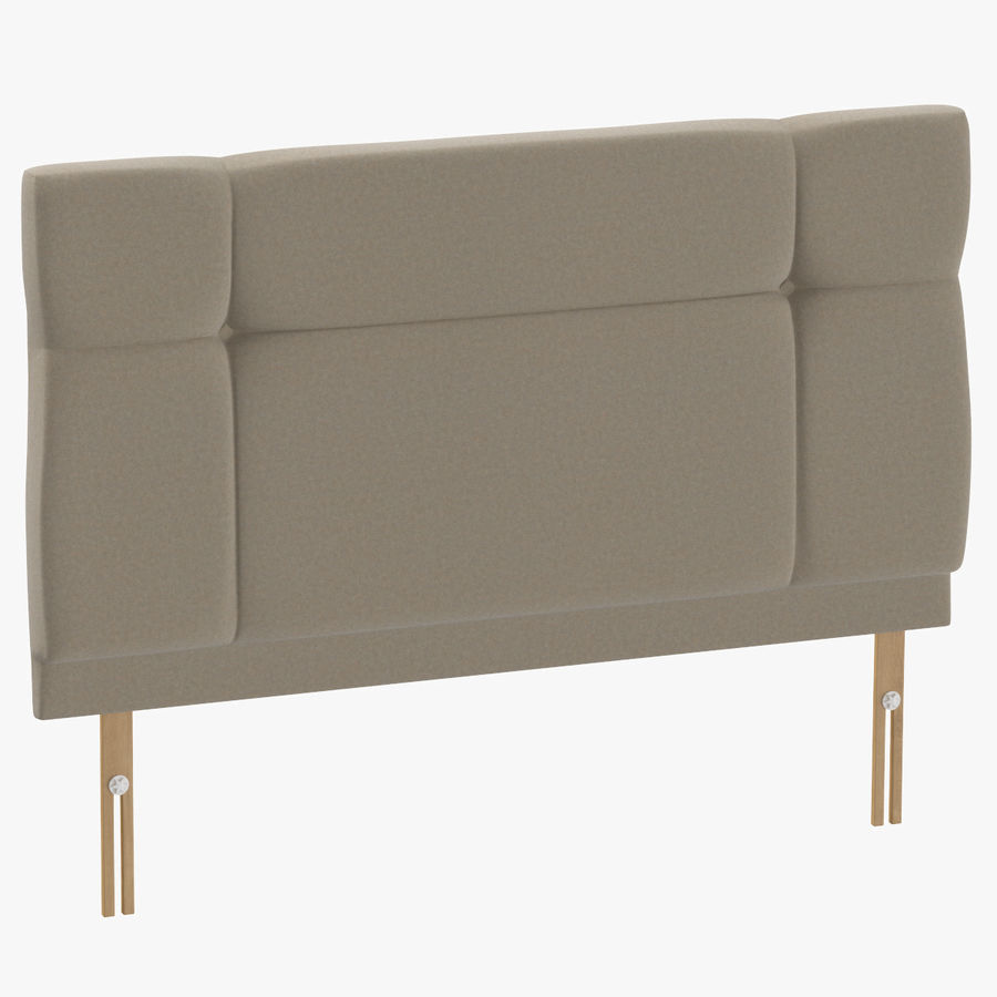 Headboard 13 Oatmeal royalty-free 3d model - Preview no. 1