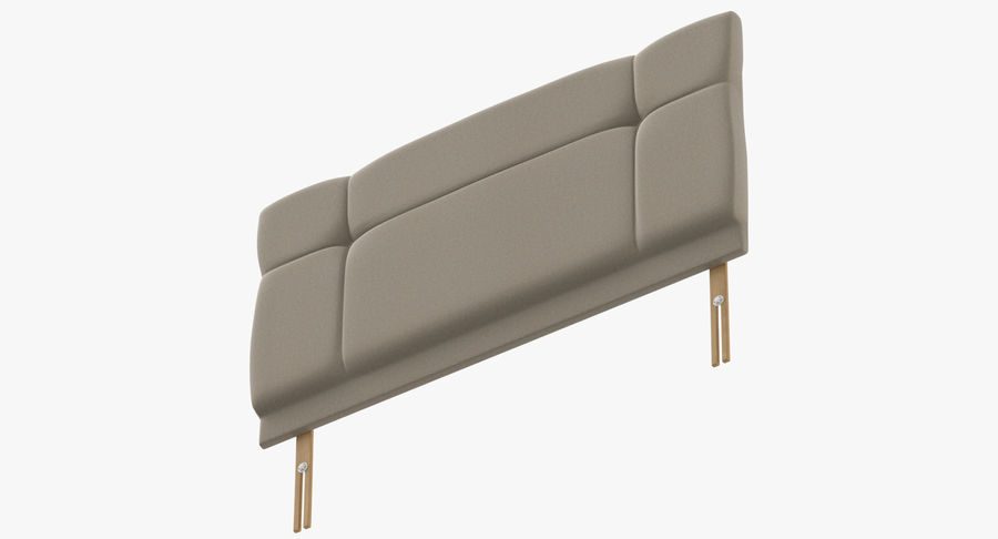 Headboard 13 Oatmeal royalty-free 3d model - Preview no. 9